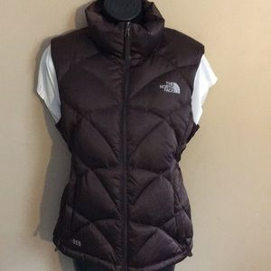 The north face brown goose down vest 550
